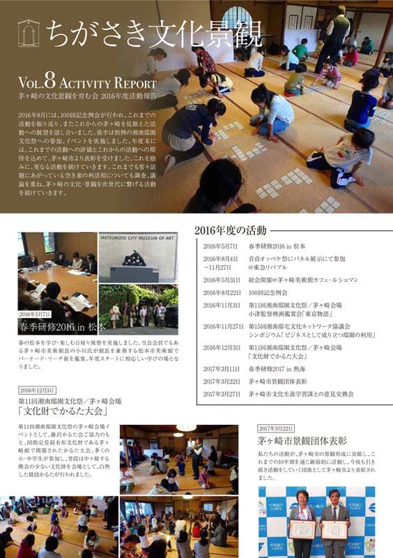 茅ヶ崎の文化景観を育む会_アクティビティレポート2017